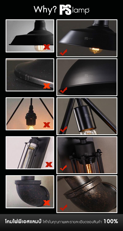 แนะนำโคมไฟ ร้านขายโคมไฟ โคมไฟราคาถูก โคมไฟวินเทจ