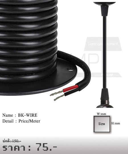 สายไฟวินเทจ-หลอดไฟไส้เอดิสัน-BK-WIRE