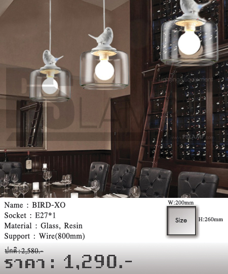 โคมไฟห้อย-โคมไฟราคาถูก-โคมไฟเพดาน-BIRD-XO