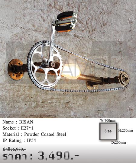 โคมติดผนัง-โคมไฟโมเดิร์น-โคมไฟห้อย-BISAN