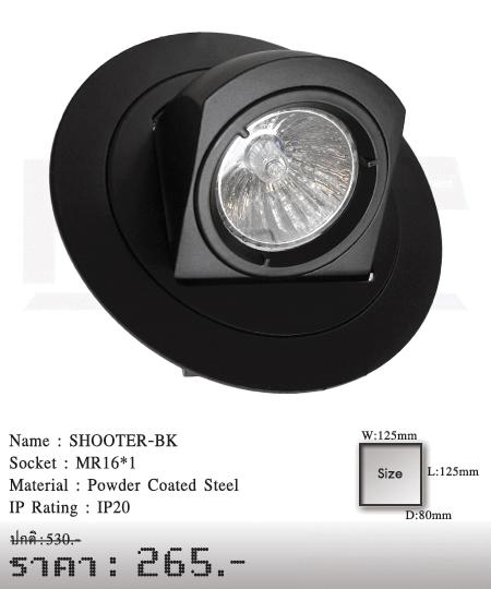 ดาวน์ไลท์-โคมไฟวินเทจ-ขายโคมไฟ-ร้านขายโคมไฟ-โคมไฟโมเดิร์น-SHOOTER-BK