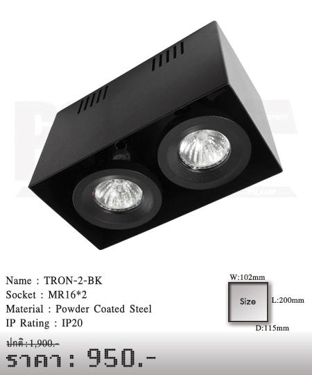 ดาวน์ไลท์-โคมไฟวินเทจ-ขายโคมไฟ-ร้านขายโคมไฟ-โคมไฟโมเดิร์น-TRON-2-BK