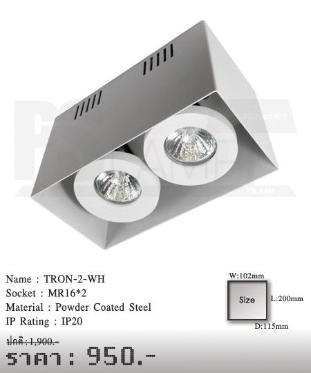 ดาวน์ไลท์-โคมไฟวินเทจ-ขายโคมไฟ-ร้านขายโคมไฟ-โคมไฟโมเดิร์น-TRON-2-WH