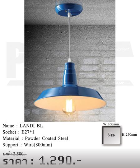 โคมไฟวินเทจ-ขายโคมไฟ-ร้านขายโคมไฟ-โคมไฟโมเดิร์น-โคมไฟ-Loft-LANDI-BL
