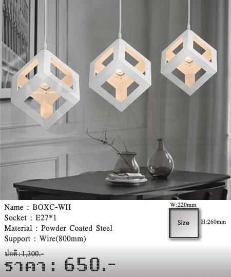โคมไฟเพดาน-โคมไฟวินเทจ-โคมไฟโมเดิร์น-ร้านขายโคมไฟ-ขายโคมไฟ-BOXC-WH
