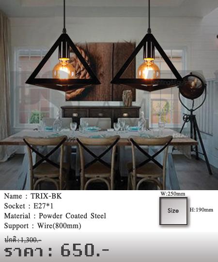 โคมไฟเพดาน-โคมไฟวินเทจ-โคมไฟโมเดิร์น-ร้านขายโคมไฟ-ขายโคมไฟ-TRIX-BK