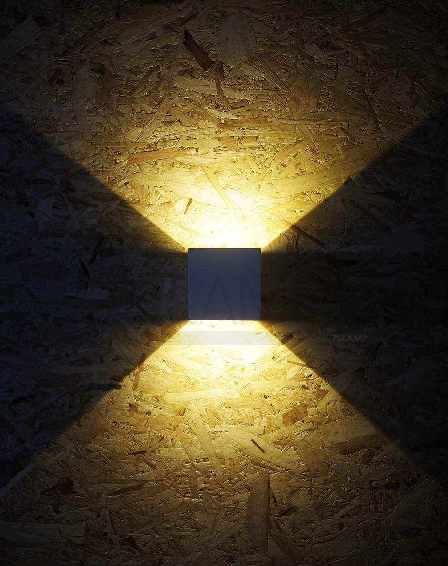 โคมติดผนัง โคมภายนอก โคมไฟผนัง โคมไฟกิ่งภายนอก Outdoor LUTON-WH