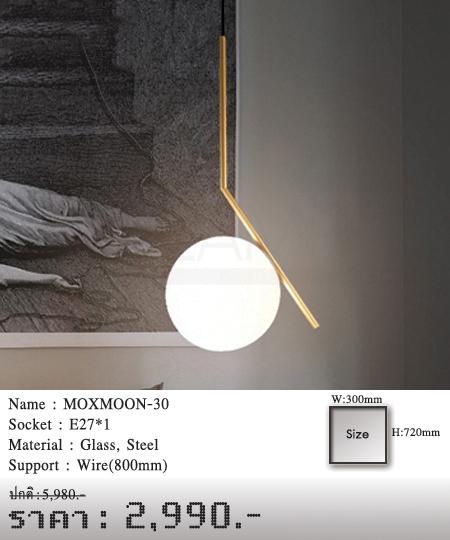 โคมไฟห้อย โคมไฟแขวน โคมไฟลอฟท์ โคมไฟระย้า MOXMOON-30