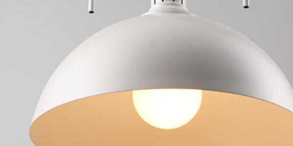 โคมไฟสีขาว พาสเทล แก้วโปร่งแสง