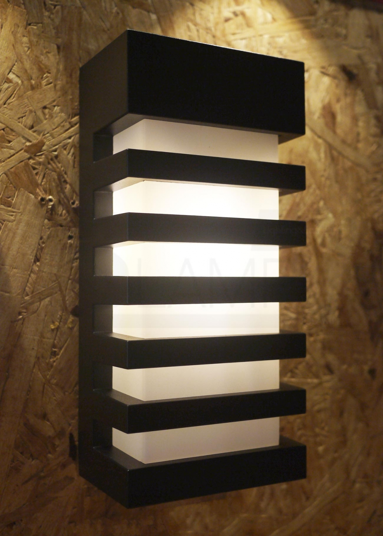 โคมไฟผนัง-โคมไฟหัวเสา-โคมไฟภายนอก-โคมไฟโมเดิร์น-TIGO-BK