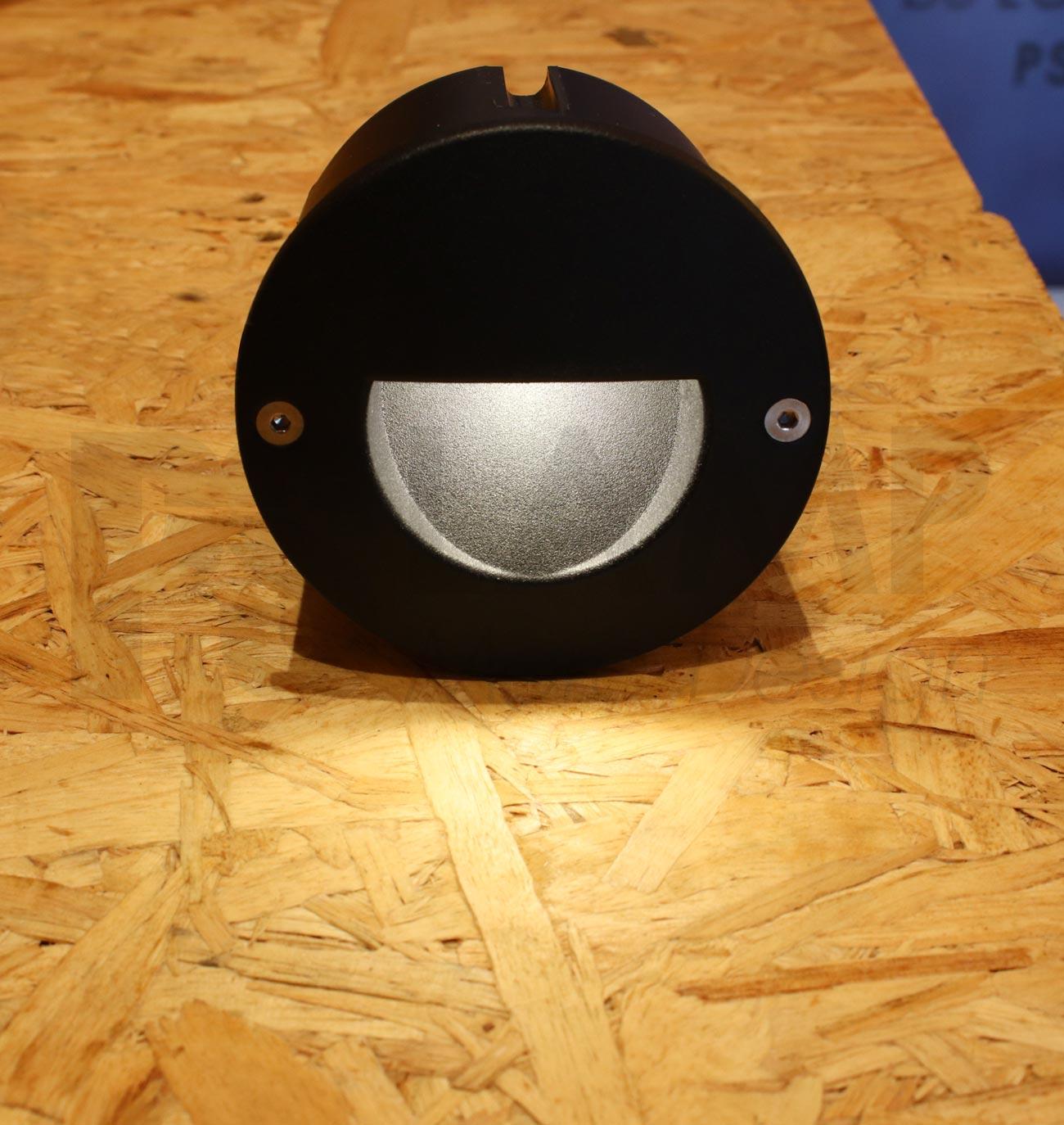 โคมไฟฝังผนัง Step Light โคมไฟภายนอก โคมไฟติดผนัง DOT-ROUND-RAMP-BLACK