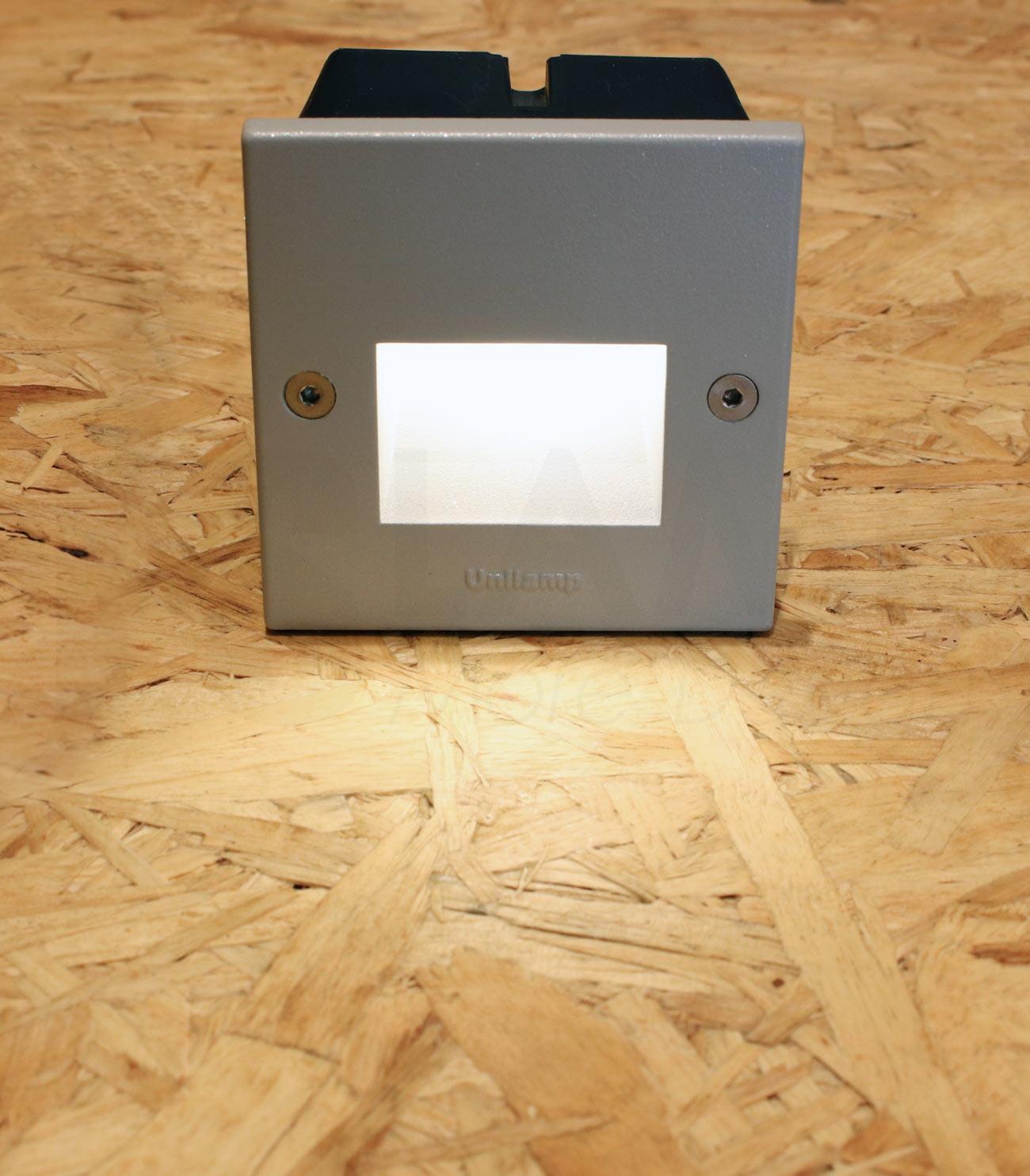 โคมไฟฝังผนัง Step Light โคมไฟภายนอก โคมไฟติดผนัง DOT-SQUARE-RAMP-SILVER