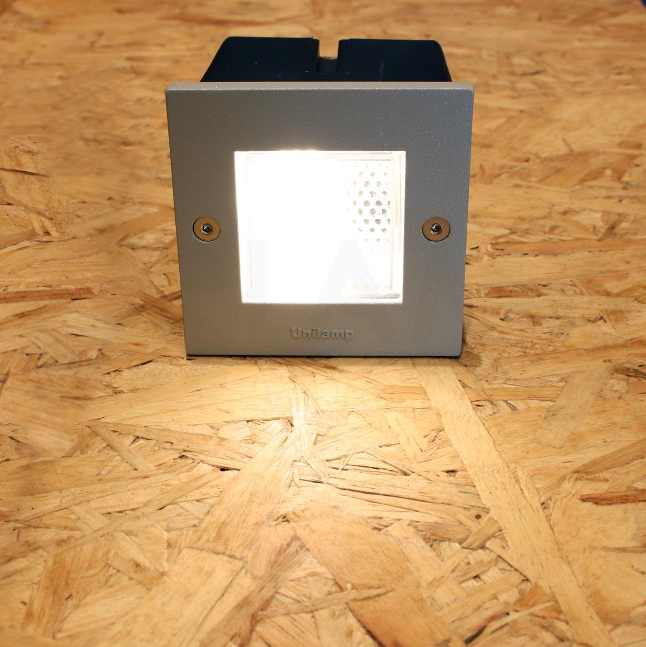 โคมไฟฝังผนัง Step Light โคมไฟภายนอก โคมไฟติดผนัง DOT-SQUARE-SILVER