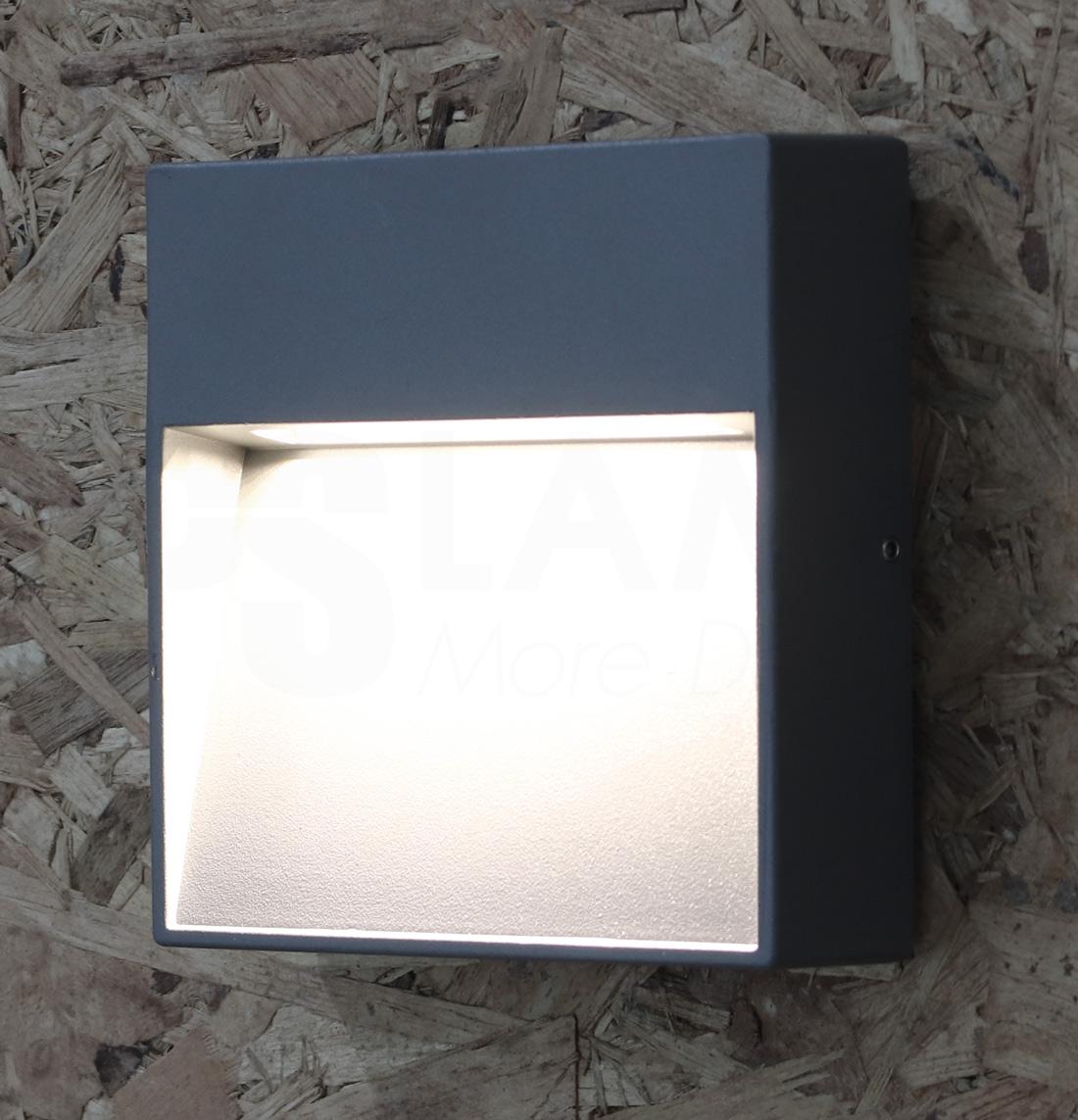 โคมไฟผนัง โคมไฟหัวเสา โคมไฟภายนอก โคมไฟโมเดิร์น SQBOX-GY