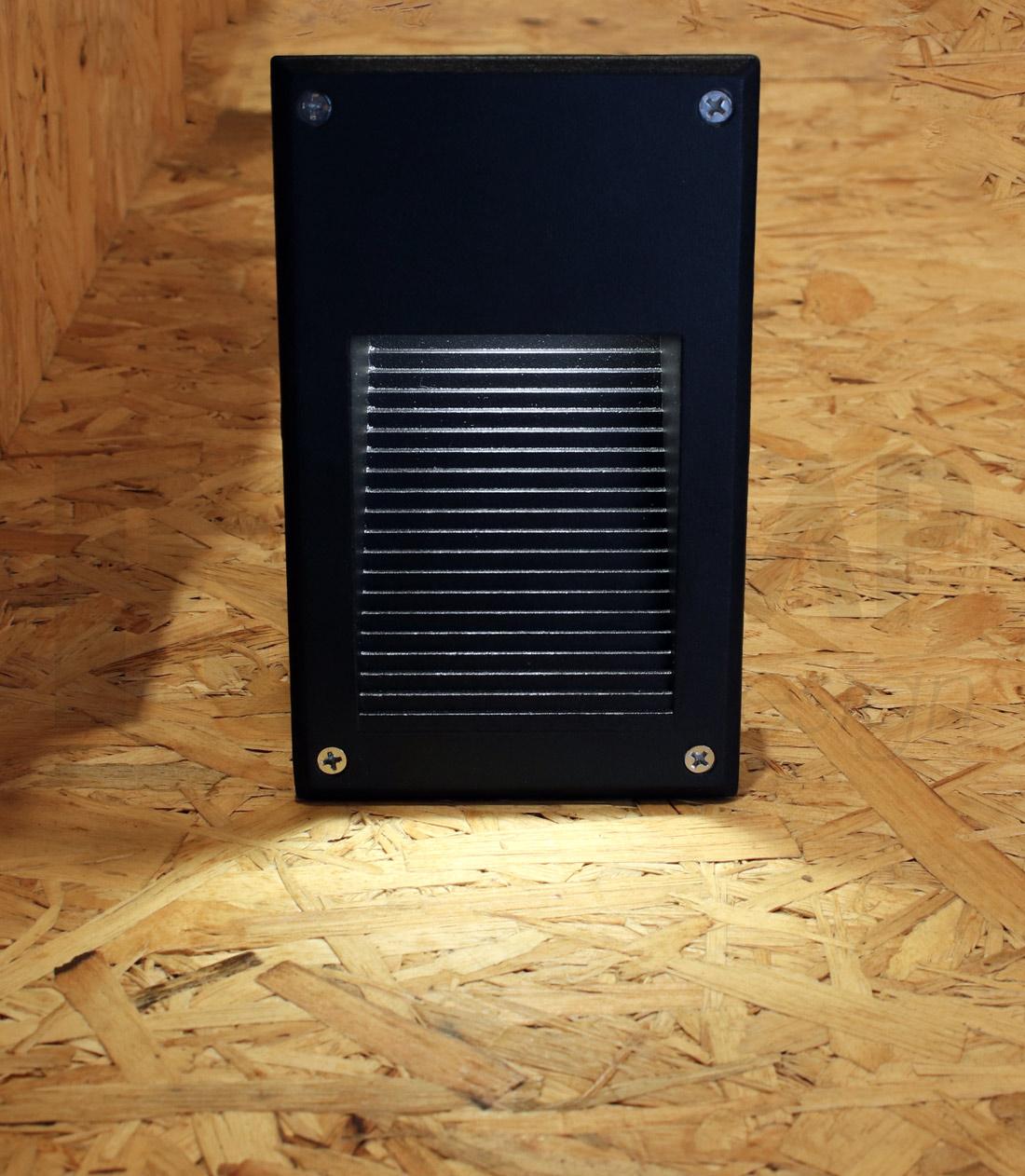 โคมไฟ Steplight โคมไฟฝังผนัง โคมไฟติดขั้นบันได โคมไฟติดผนัง TORIA-BK